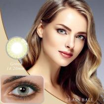 Glassball Green Prescription Yearly Colored Contacts