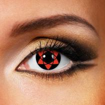NARUTO-Hexagram Cosplay Red Yearly Colored Contacts