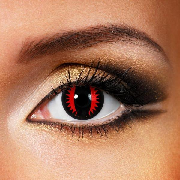 Reaper Red Yearly Colored Contacts