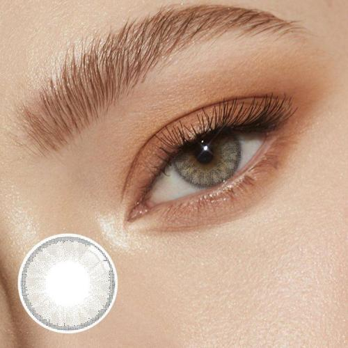 Glassball Light Grey Prescription Yearly Colored Contacts