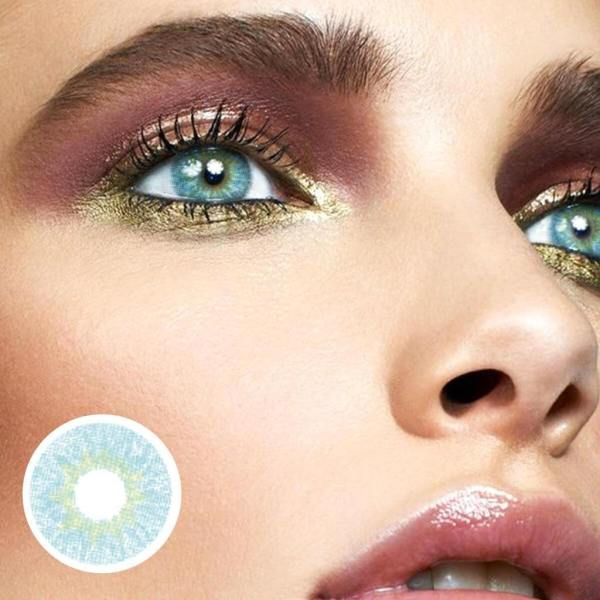 Shallow Blue Yearly Colored Contacts