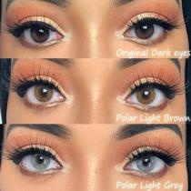 Polar Lights Grey Prescription Yearly Colored Contacts