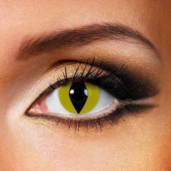 Snake & Lizard Yellow Yearly Colored Contacts