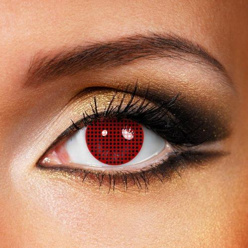 Mesh Cosplay Red Yearly Colored Contacts
