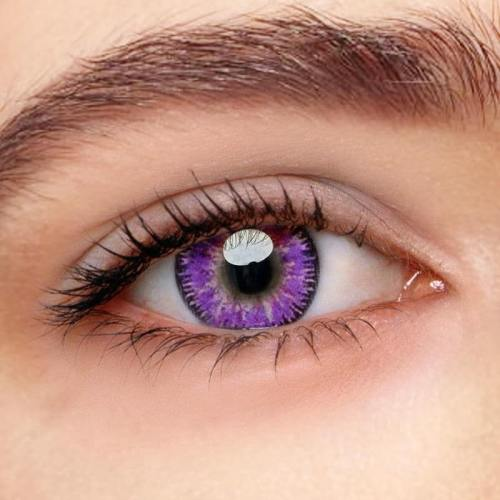 Mystery Purple Prescription Yearly Colored Contacts