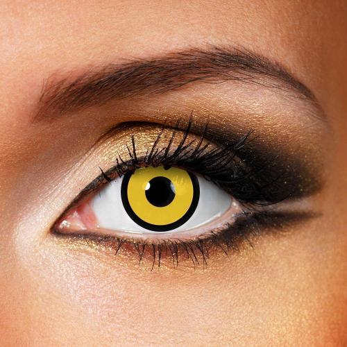 Circle Yellow Yearly Colored Contacts