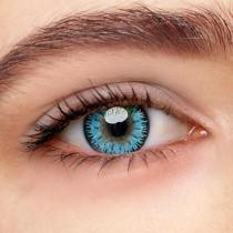 Mystery Blue Prescription Yearly Colored Contacts