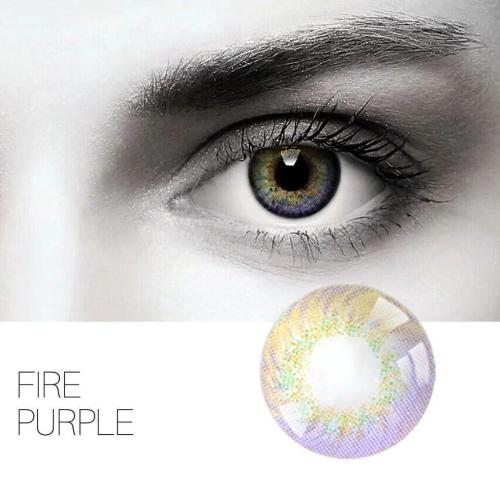 Fire Purple Yearly Colored Contacts