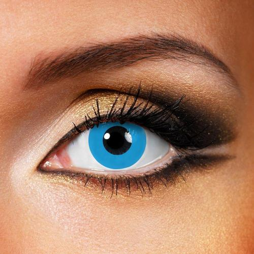 Pure Blue Yearly Colored Contacts