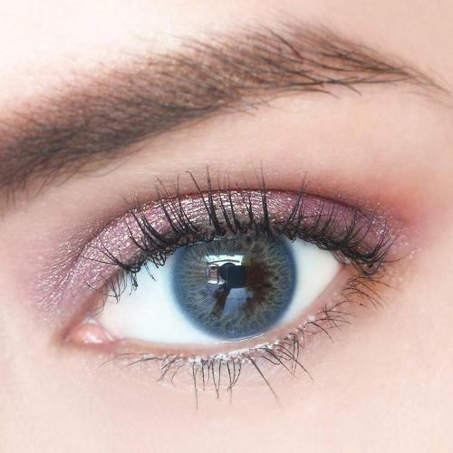 Rainbow Iris Blue Yearly Colored Contacts