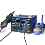 Visible Adjustable Temperture Air Volume BGA Rework Station Hot Air Soldering Station SMD Rework Station With ESD