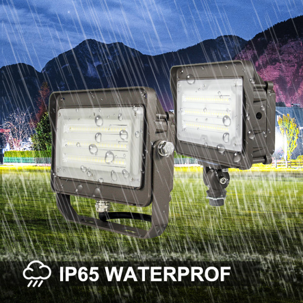 (FL-C2-D) LED Flood Light with Photocell 1/2 NTP Knucle 15W 30W 50W -130lm/w -100-277V -ETL cETL DLC