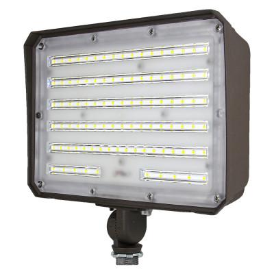 (FL-C3-D) LED Flood Light With Photocell 1/2 NTP Knucle 80W 100W -130lm/w -100-277V -ETL cETL DLC