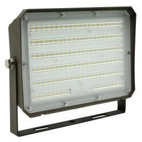 (FL-C3-E) LED Flood Light with Photocell Yoke Bracket 80W 100W -130lm/w -100-277V -ETL cETL DLC