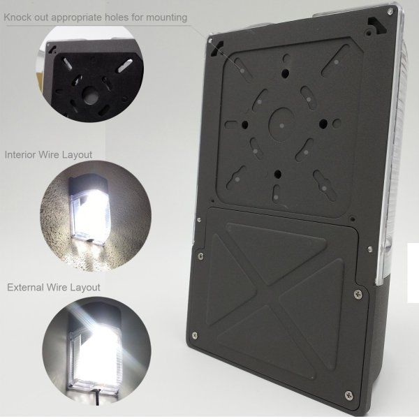 (WP-26A2) 26W Mimi LED Wall Mount With Photocell Dusk to Down -120lm/w -100-277V -ETL cETL DLC