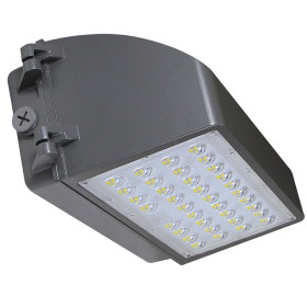 (WP-C2) Full Cut Off LED Wall Pack With Photocell 42W 60W 80W 100W -120lm/w -100-277V or 100-347V -ETL cETL DLC Preimium