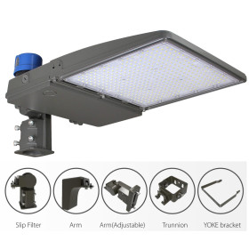 (PKB) LED Parking Lot Light Shoebox Light With Photocell or Sensor 75W 100W 150W 200W 240W 300W -130lm/w or 160lm/w -100-277V /100-347V /277-480V -ETL cETL DLC Premium