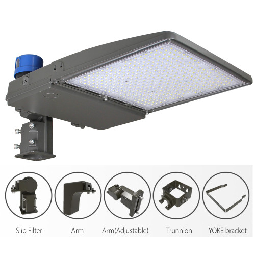 (PKB) LED Parking Lot Light Shoebox Light With Photocell or Sensor 75W 100W 150W 200W 240W 300W -130lm/w or 160lm/w -100-277V /100-347V /277-480V -ETL cETL DLC Premium