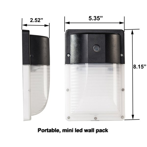 (WP-AS) 13W Mimi LED Wall Mount With Photocell Dusk to Down -120lm/w -100-277V -ETL cETL DLC