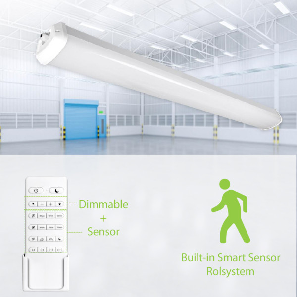(VPB) Dimmable and Sensor LED Vapor Tight Fixture Tri-proof Light  Shop Light 4FT 40W 8FT 60W 80W-130lm/w -100-277V or 120-347V -UL cUL DLC Premium