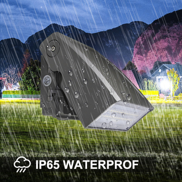(WP-D) Adjustable LED Wall Pack With Photocell 20W 30W 40W 60W 80W 100W 120W -120lm/w -100-277V or 100-347V -ETL cETL DLC Preimium