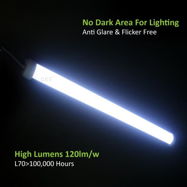 (TPL-D) Slim LED Tri-proof Light Alumium Body 600mm 20W -1200mm 40W -1500mm 60W -1800mm 72W -120lm/w -200-240V -CE, Rohs,CB,SAA