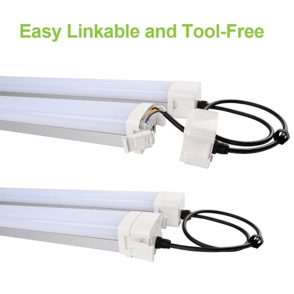 (VPE) LED Vapor Tight Fixture Tri-proof Light Aluminum House -4FT 40W 60W -5FT 80W -8FT 90W 120W-140lm/w -100-277V or 120-347V -ETL cETL DLC Premium