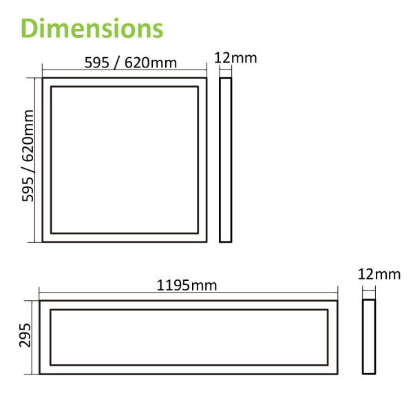 (PL-H) Edge-Lit LED Panel Light 150lm/w  -CRI85  -UGR16 or UGR19 Optional -SDCM3 -CE, TUV-GS