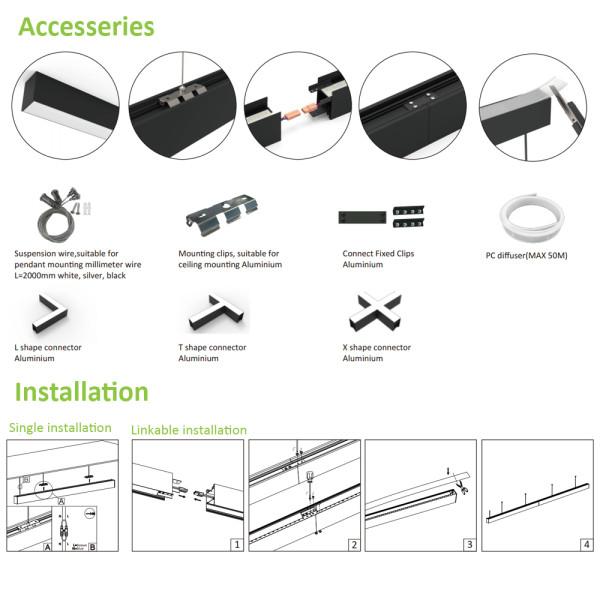 (LLC) LED Linear Light 1200mm 40W -1500mm 50W -120lm/w -200-240V -CE, Rohs,CB,SAA