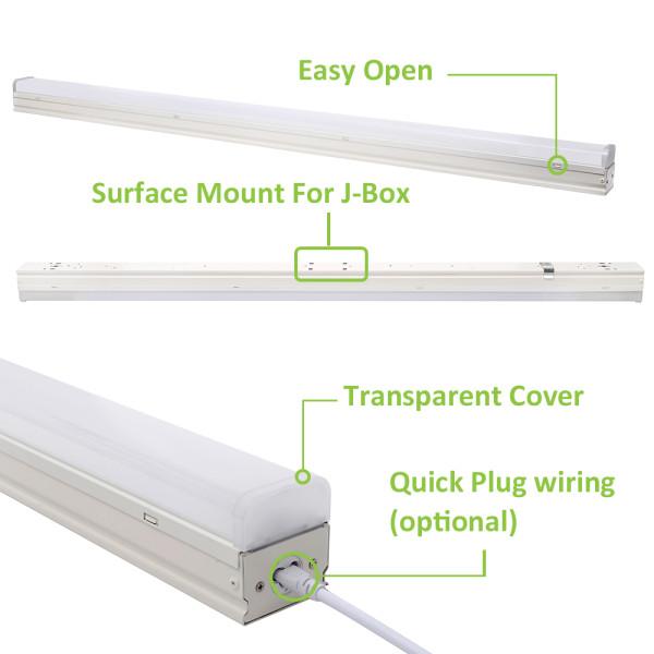 (LSA) ETL DLC LED Linear Strip Light 4FT 40W -8FT 60W 80W -140lm/w -100-277V or 120-347V -0-10V Dimmable - ETL cETL DLC