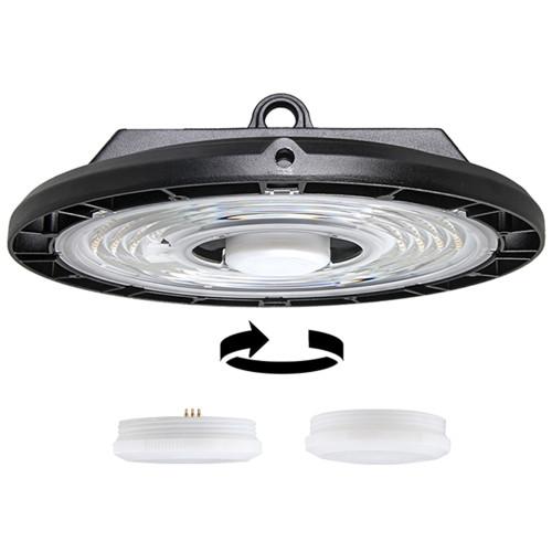 Plug & Play Sensor UFO LED High Bay Light 100W 150W 200W -140lm/w or 190lm/w -100-277V -1-10V Dim -Sensor -ETL DLC CB SAA CE -5 Years Warranty
