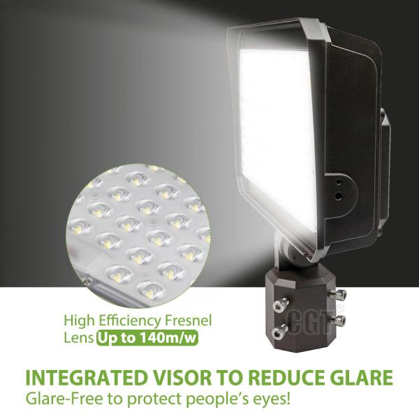 (PL01-A) LED Flood Light Area Light Parking Lot Light With Photocell - Slip Filtter Bracket - 150W 200W -130lm/w -100-277V - ETL cETL DLC