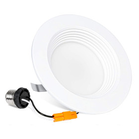 (DLA-04) High CRI 90Ra 4'' -11W LED Recessed Downlight Can Retrofit - Baffle Trim -850lm -ETL cETL Energy Star