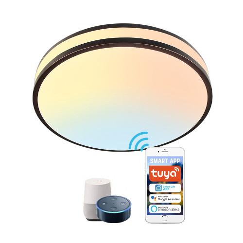 2700-6500K Adjustable WIFI Smart LED Ceiling Light -APP /Vioce Control -Work with Amazon Alexa, Google Assistant