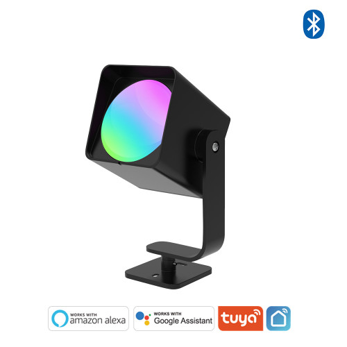 White and Color Ambiance Bluetooth Mesh LED Landscape Spot Light - APP / Voice Control -Work with Tuya,  Alexa,Goolge Assistant
