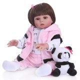 48cm silicone lavável reborn boneca de corpo inteiro modelo infantil realista para presente bonito acompanhar brinquedo para crianças