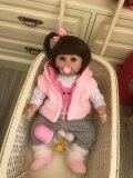 48cm bebê boneca reborn boneca do bebê, artesanal, silicone, adorável, reborn, criança, bonecas menina, miúdo, menina de silicone, boneca, surpresa