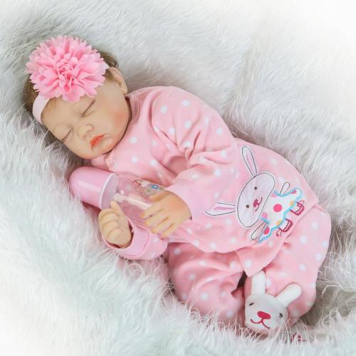 Npk bonecas reborn bebês vivo, boneca de silicone macia 22 Polegada, brinquedo realista para meninas para aniversário de natal presente