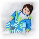 Keiumi quente 18 polegada reborn bebê boneca de pano macio corpo 48 cm vivo renascer boneca collectible pouco homem para o menino crianças playmate