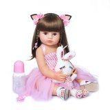 55cm npk bebe boneca renascer criança menina rosa princesa baty brinquedo muito macio de corpo inteiro silicone menina boneca