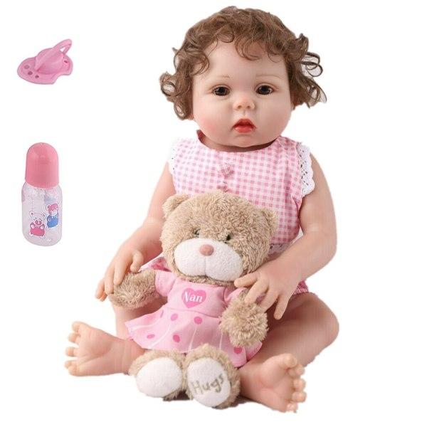 Bebe reborn corpo de silicone inteiro bebê girafa boneca para menino de corpo inteiro vinil realista 18 Polegada para crianças presente aniversário natal surpresa