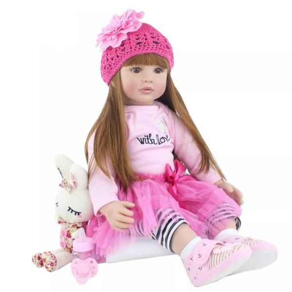 Boneca reborn bebê 60cm, silicone, realista, de vinil, princesa, bebê, boneca, presente de aniversário, para menina, bebês, boneca brinquedo