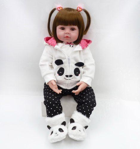 Bebes reborn boneca 47cm bebê menina bonecas silicone macio boneca reborn brinquedos bonecas presentes do dia das crianças brinquedos cama tempo plamate