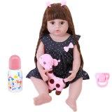 Novo 56cm reborn bebê da criança boneca realista adorável bebês boneca muito macio de corpo inteiro silicone bonecas banho brinquedo bonecas presente natal