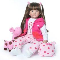 Bonecas reborn,bonecas adoráveis para meninas,60cm de alta qualidade,criança renascida