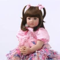24  60 centímetros Silicone Renascer Boneca Brinquedos Da Criança Do Bebê Da Princesa Menina Como Vivo Coleção Limitada de Bebe Meninas Brinquedos de Aniversário presente