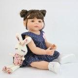 Bonecas realistas de silicone, 55cm, corpo de vinil, silicone, bebê menina recém-nascida, princesa, presente para criança