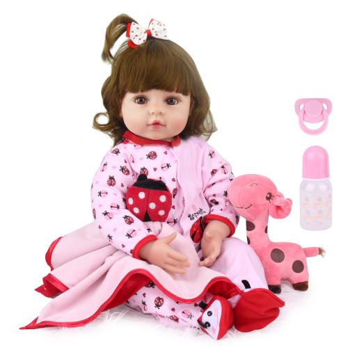 reborn bebe boneca menina 55cm brinquedo recém-nascido para meninas presentes de aniversário do bebê bonecas vivo vinil silicone com brinquedo urso