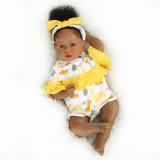 NPK DOLL Bebe Baby Reborn Boneca 100% Silicone Menina Loira 55cm Real