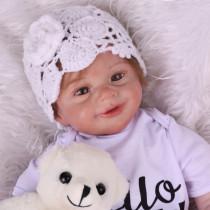 55cm tamanho real original npk, boneca bebê renascido, criança, menina, muito macio, corpo inteiro, silicone boneca da menina surprice